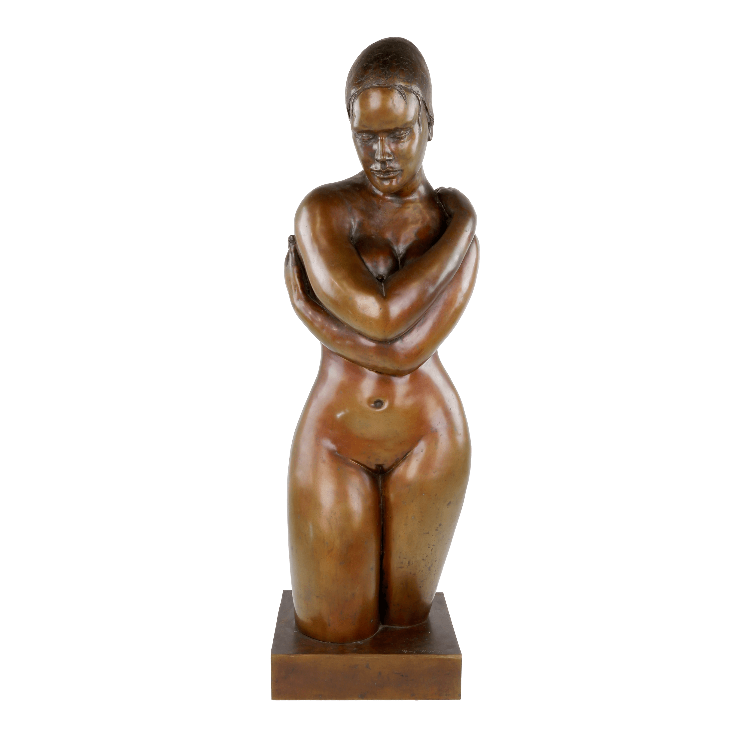 'Guy Boyd (1923-1988) Swimmer with Arms Surrounding, Bronze Edition 3/9'