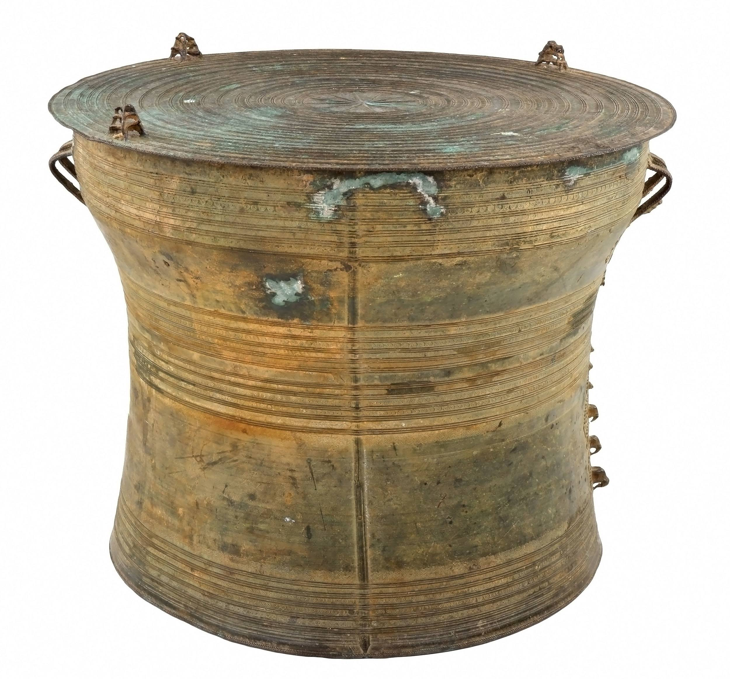 'Shan States Bronze Rain Drum, Laos 19th Century'
