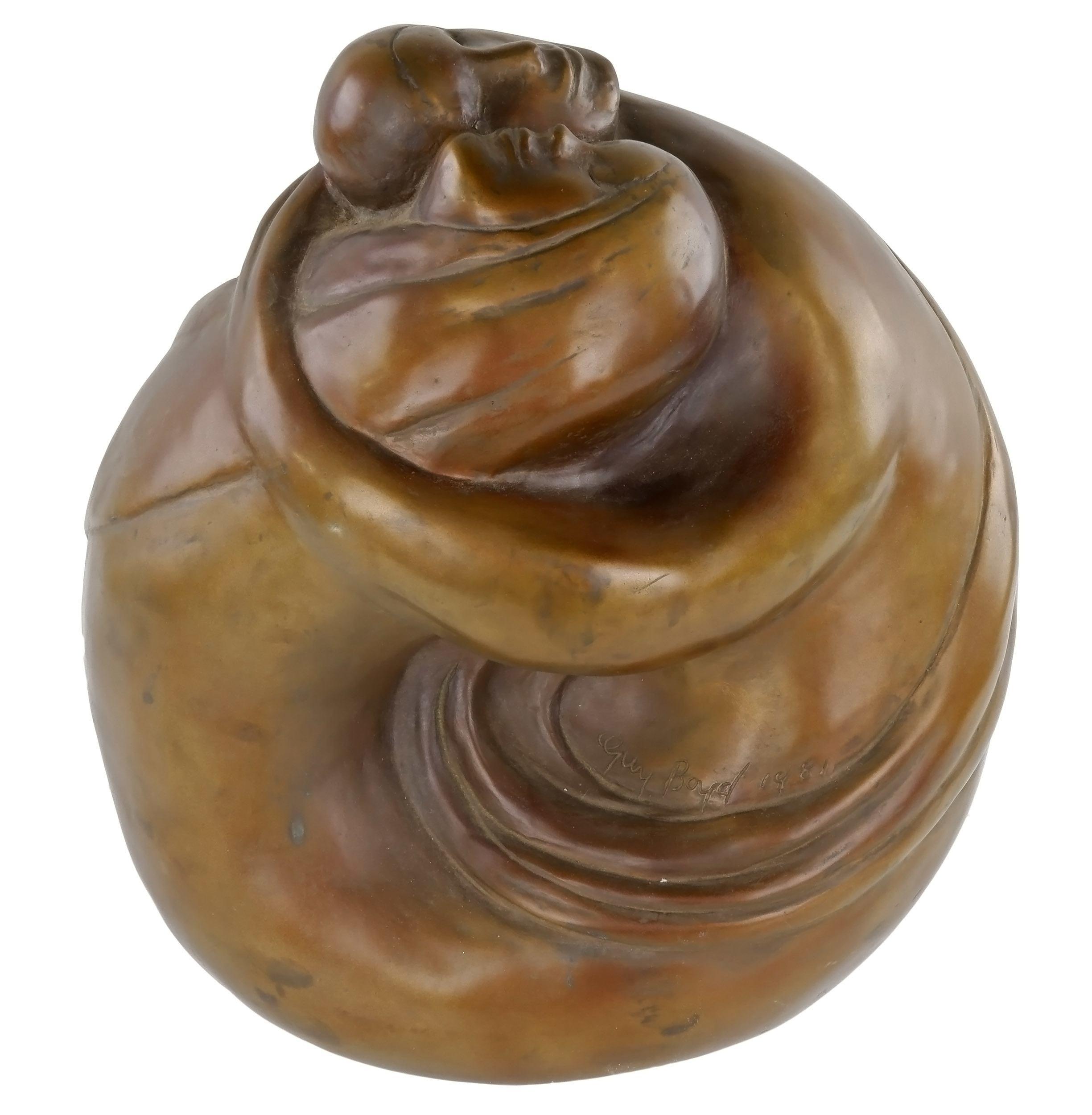 'Guy Boyd (1923-1988) Lovers Metamorphosis, Bronze Edition 6/9'