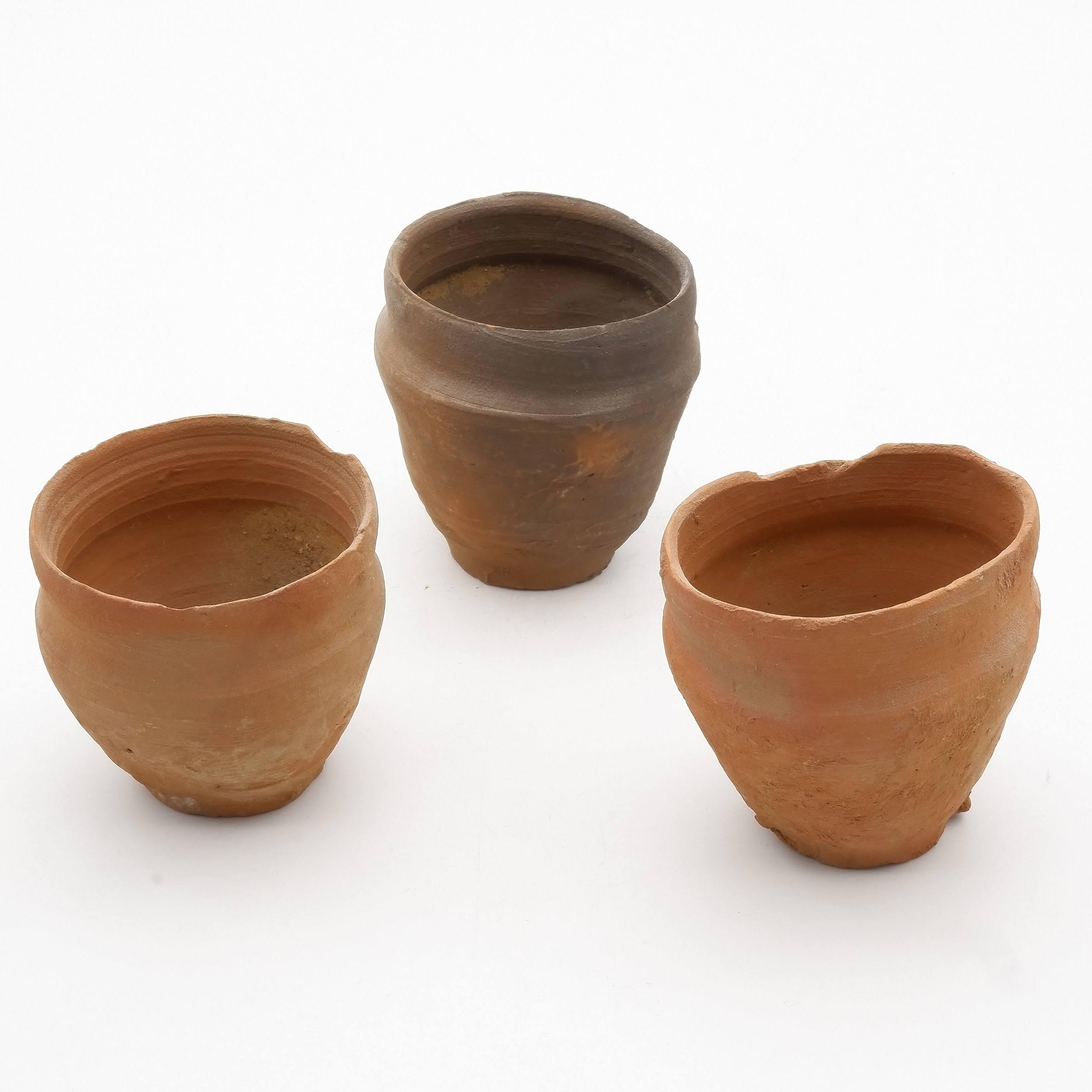 'Three Ancient Votive Jars From Egypt '