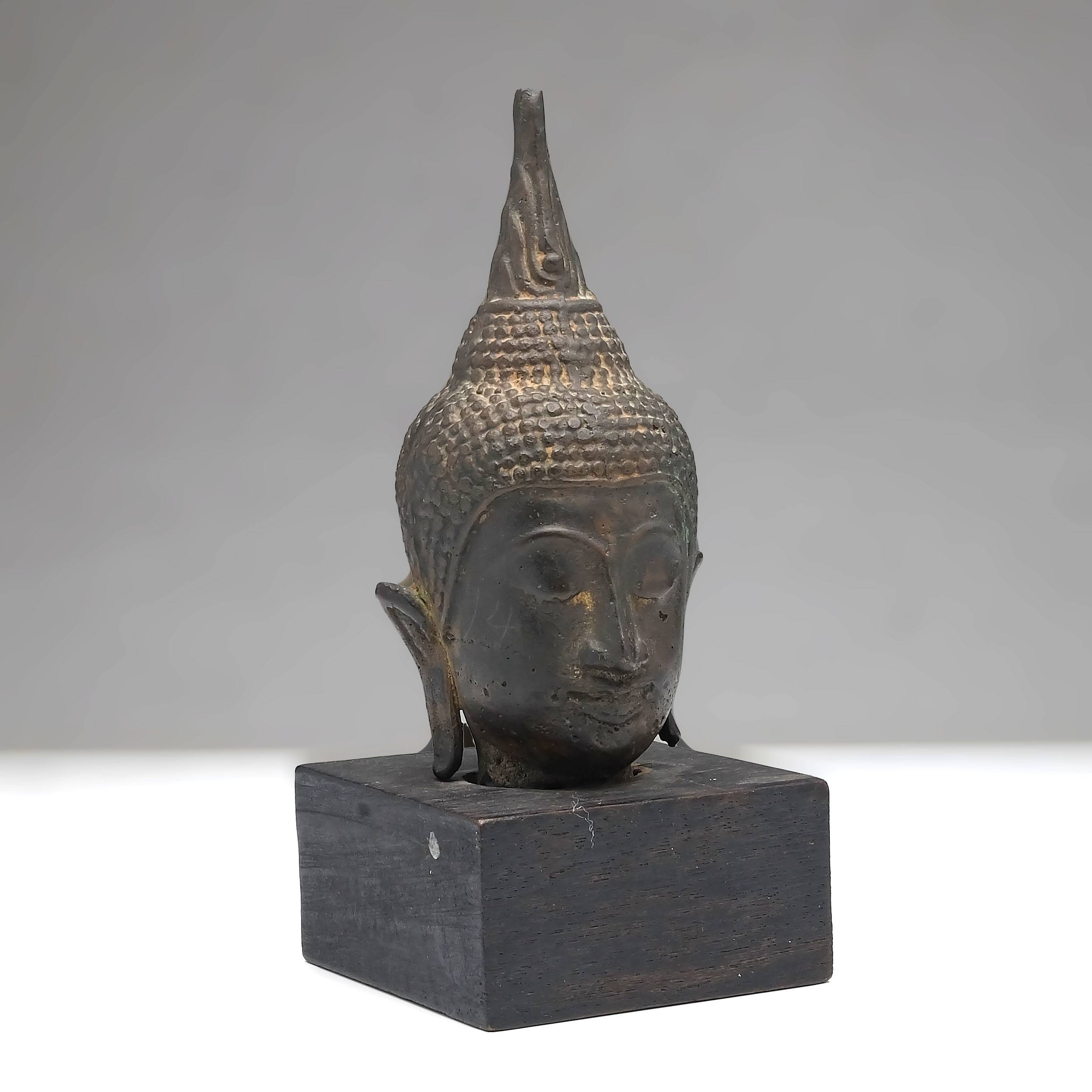 'Thai Bronze Fragmentary Head of Buddha'