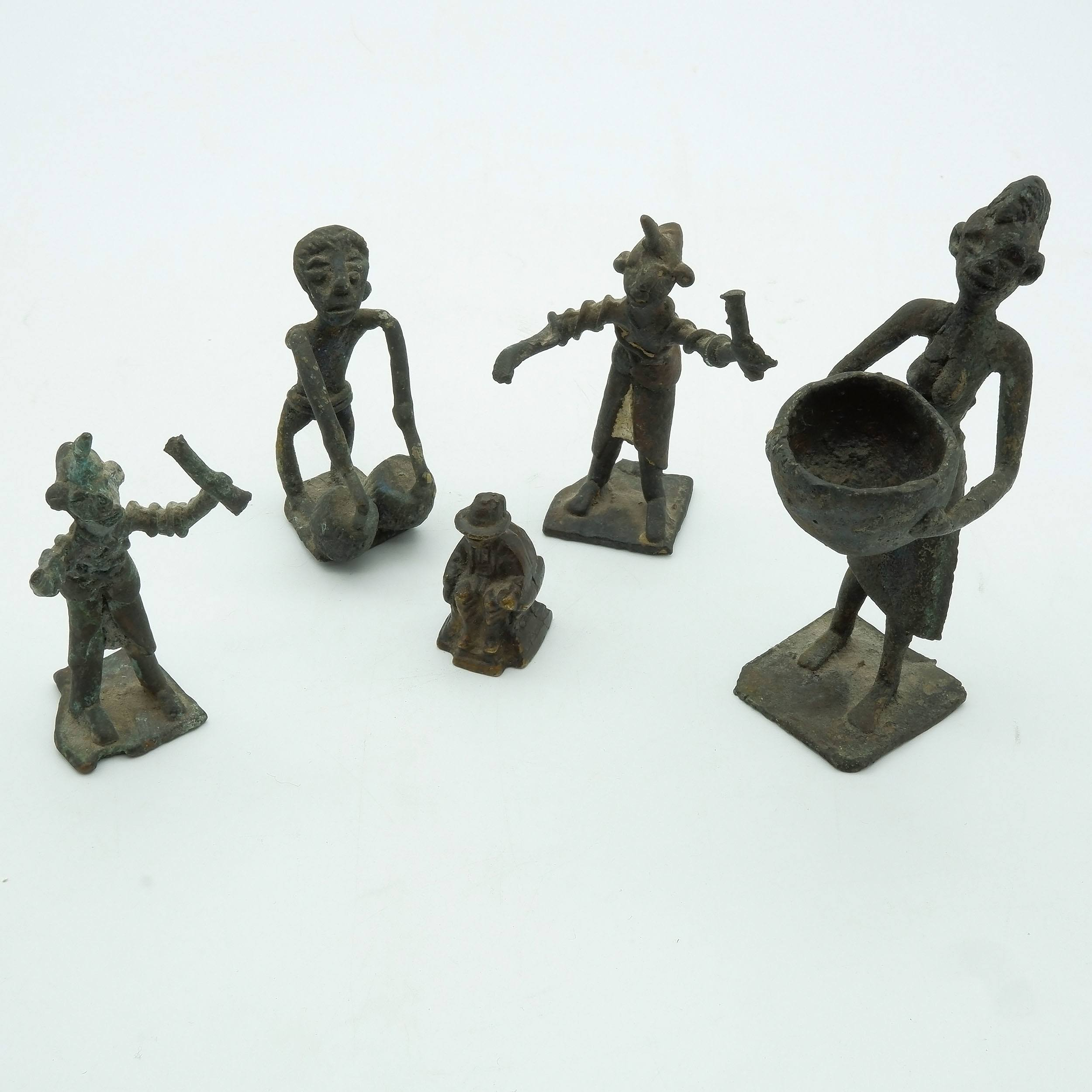 'Five African Bronze Figures'