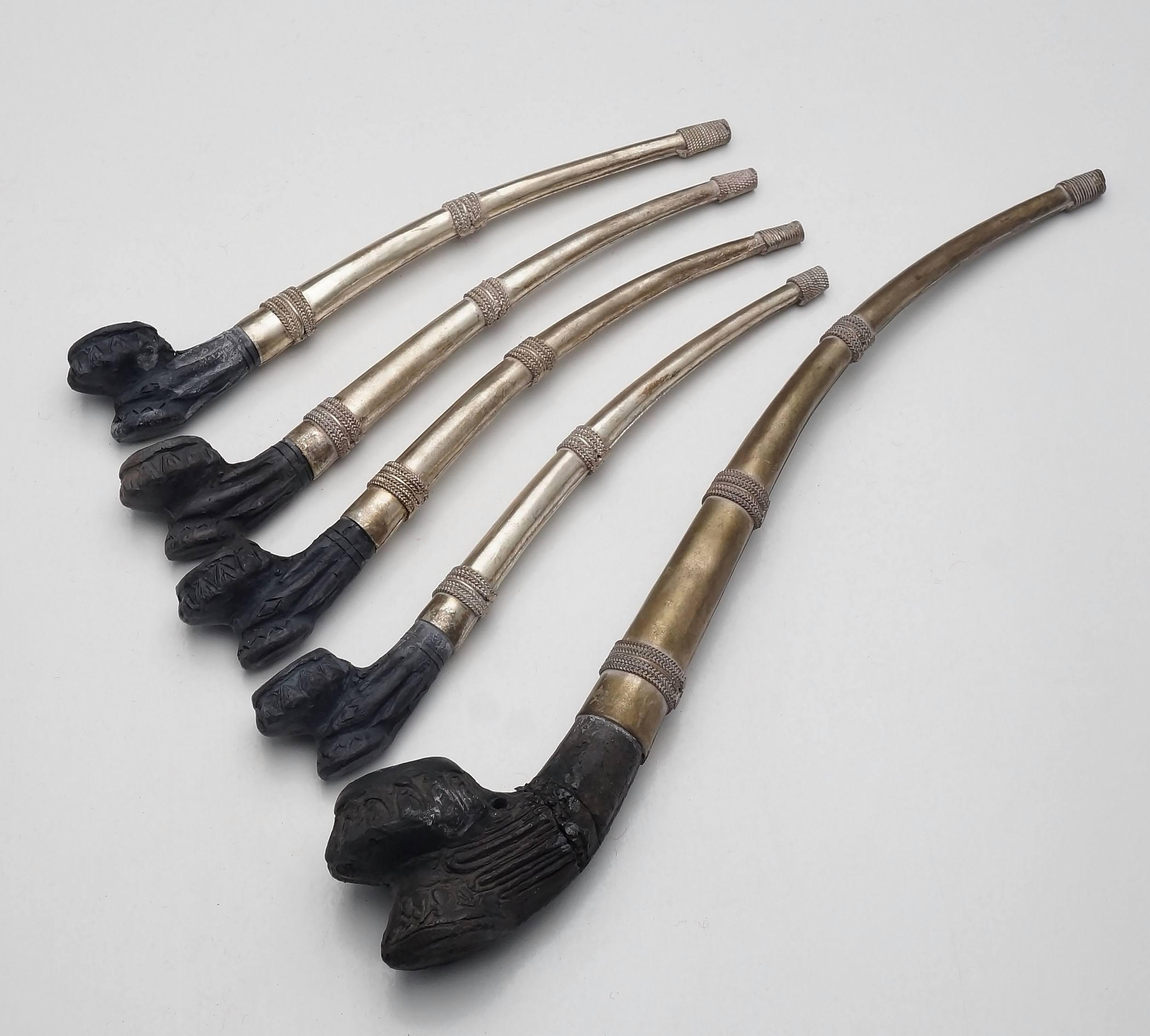 'Lao Opium Pipes Circa 1960s'