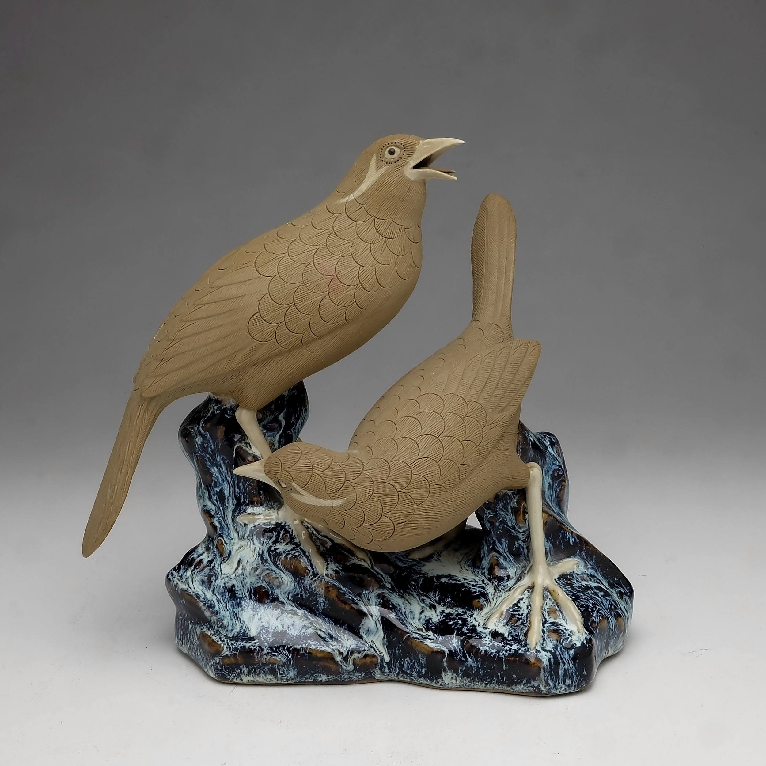 'Chinese Shiwan Figure of Birds'