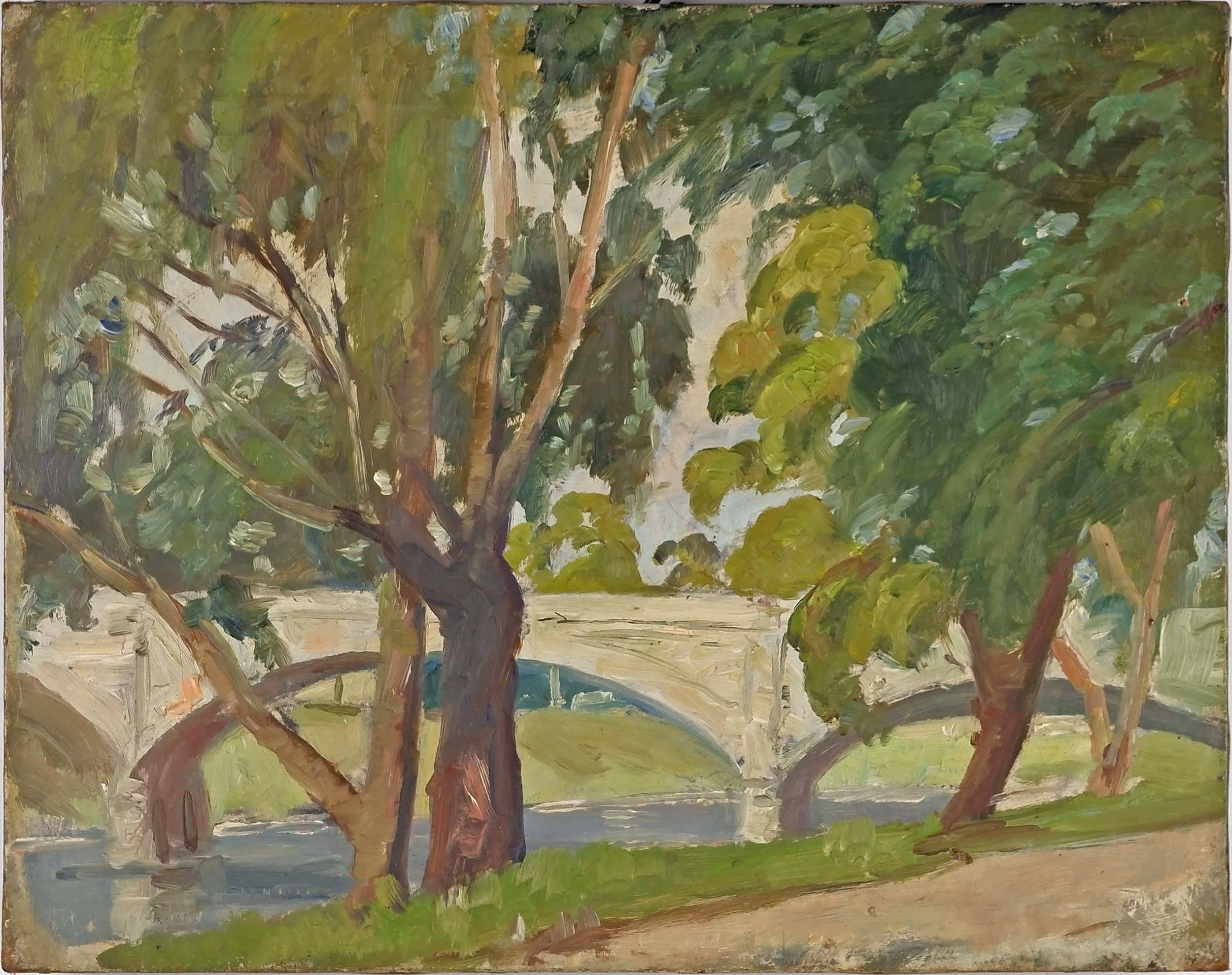 'Evelyn Roadknight (Dates Unknown) Anderson St South Yarra, Oil on Canvas'