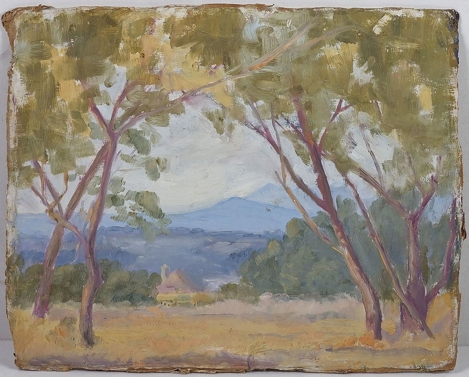 'Artist Unknown, Glen Waverly, Oil on Card'