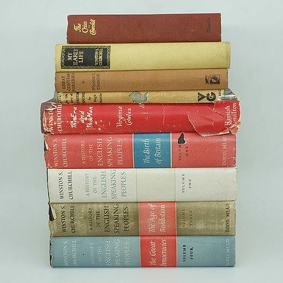 Seven Books By Winston Churchill, Including Great Contemporaries, My Early Life, The Crisis and More