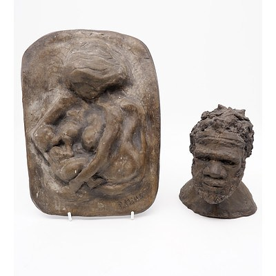 Two Ceramic Sculptures by P. Mills