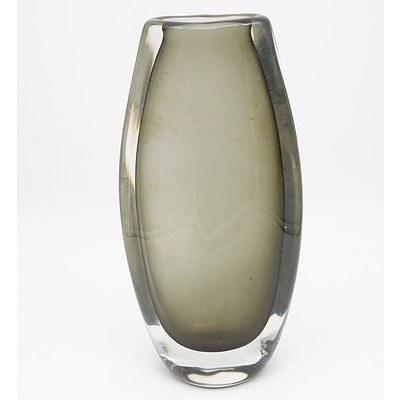 Tall Grey Hue Orrefors Vase