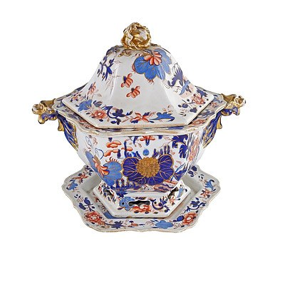 19th Century Masons Ironstone Soup Tureen Owned by Governor Sir John Forrest (by repute)