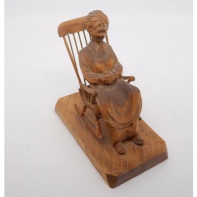 """Canadian Carved Wooden """"La Sanguine"""""""