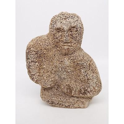 Pauloosie Karpik (Inuit 1911-1988) Carved Whalebone Figure