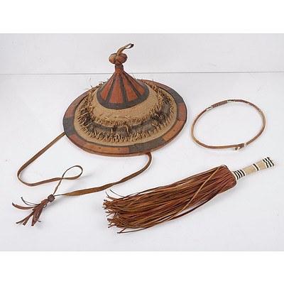 Timbuktu Hat, Timbuktu Leather Waist Band and Modesty Fringe