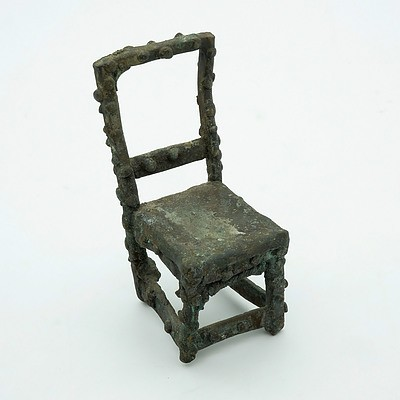 West African Iron Model of a Chair