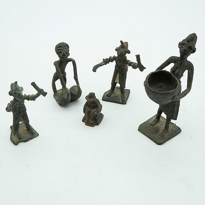 Five African Bronze Figures