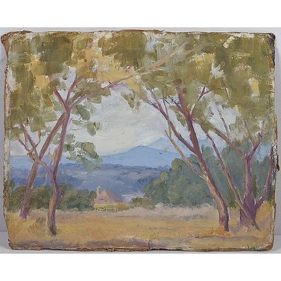 Attributed to Evelyn Roadknight (1892-1974), Glen Waverly, Oil on Card
