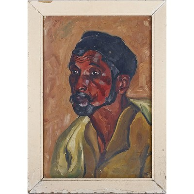 Memona Feroz Nana (Pakistani) Sweeper 1957, Oil on Card