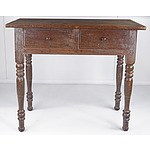 East Indies Colonial Style Two Drawer Side Table 19th Century