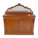 Victorian Mahogany Mirror Backed Chiffonier Circa 1880