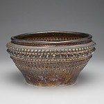 Lao Silver Rose Bowl with Repousse Jasmine Buds, Buddha's Hair and Beading, Gift From Prince Souvanna Phouma 1968