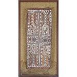 Gawarin (Yirrkala) Barama the Creator of Yirritja Patterns, Natural Earth Pigments on Eucalyptus Bark