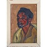 Memona Feroz Nana (Pakistani) Sweeper 1957, Oil on Card