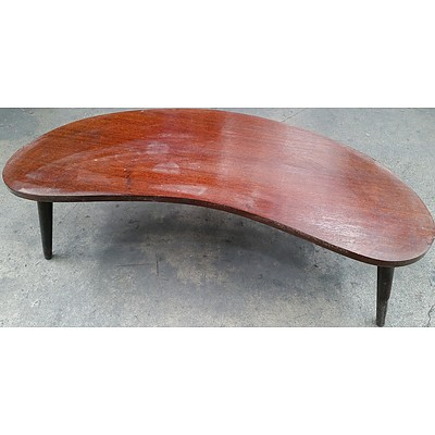 Prime Retro Silky Oak Boomerang Coffee Table Late 1950S Early 1960S Evergreenethics Interior Chair Design Evergreenethicsorg
