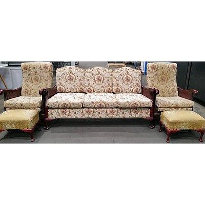 Masterwood Lounge and Bedroom Furniture Suite