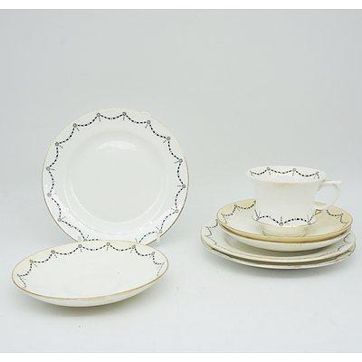 Collection of Partial Tea Sets Including Hamereley, Lancaster Sandlant, and Paragon
