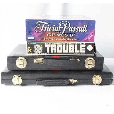 Lot of Board Games Including Trouble and Trivial Pursuit