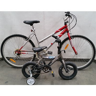 Adult and Child Push Bikes - Lot of Two