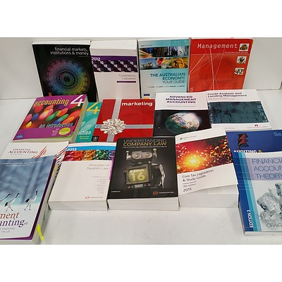 Selection of Books On Accounting, Australian Taxation and Corporate Law - Lot of 16