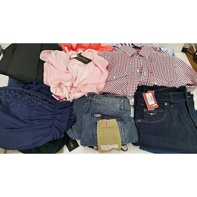 Bulk Lot of Women's, Men's and Children's Clothing and Accessories - New