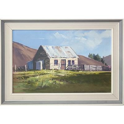 Kevyn Webb Old Cottage at Dunback Oil on Board