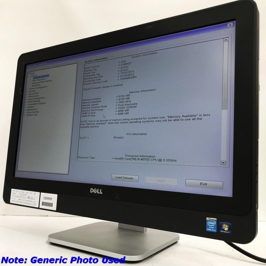 Dell Optiplex 9020 23 inch Core i5 -4570S 2 9GHz AIO Computer
