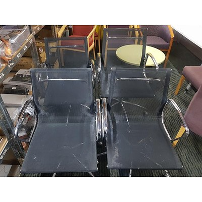 Eames Style Office Armchairs - Lot of 4
