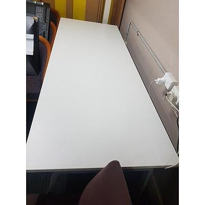 Grey Melamine Desk