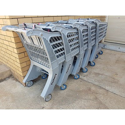 Shopping Trolley - Supercart The XL With Bottom Carrier Chassis - Lot of 5