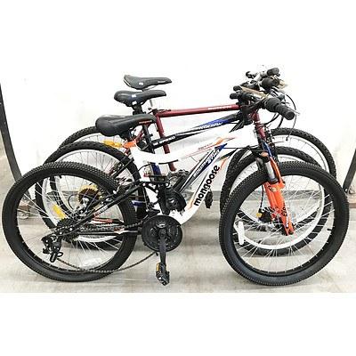 Mountain Bikes - Lot of 4