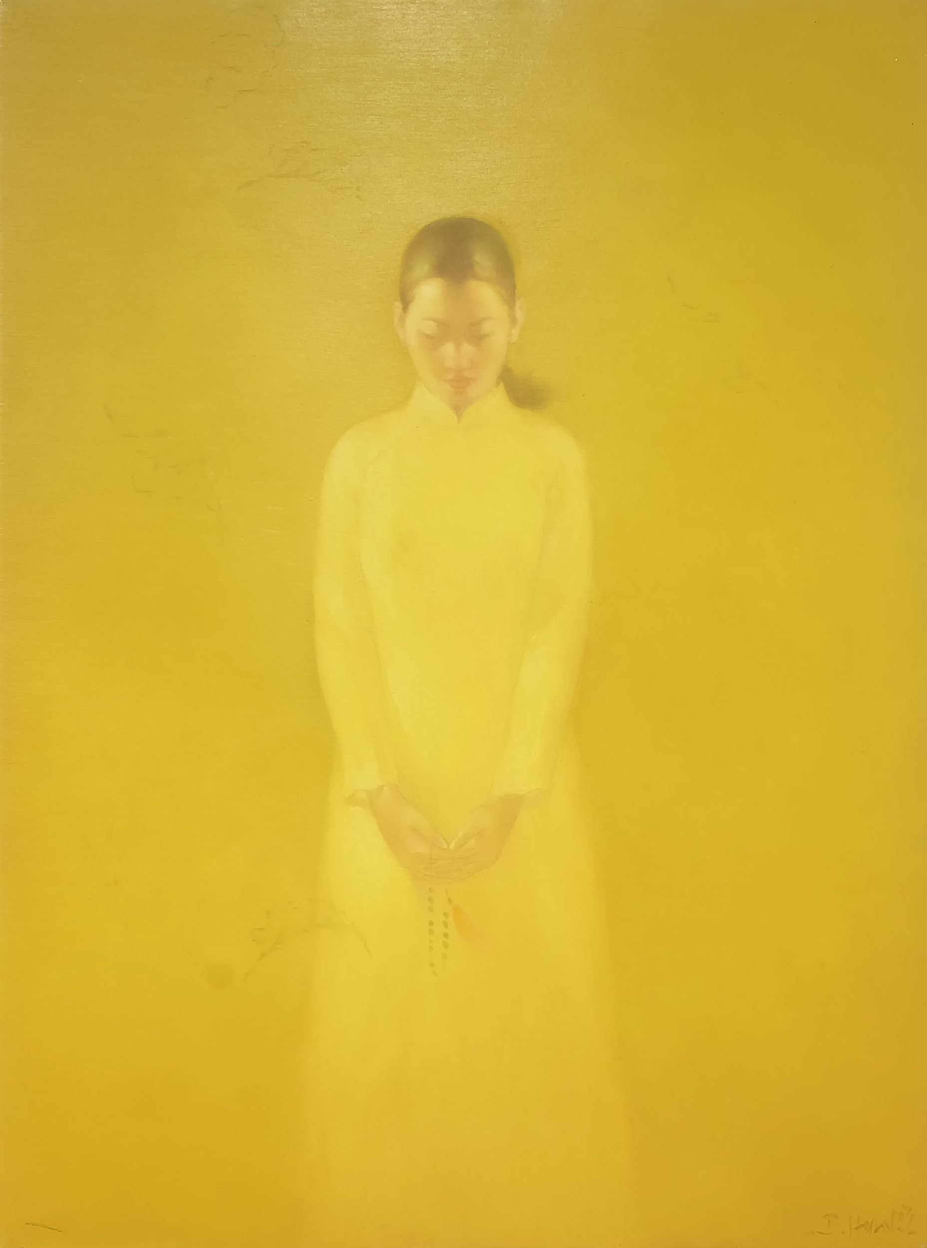 'Bui Van Hoan (1971-) School Girl Oil on Canvas'
