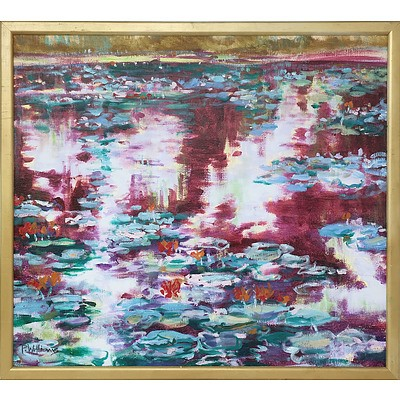 Peter Williams Waterlilies Oil on Canvas