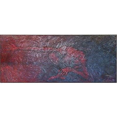 Penny Jensz (1970-) Landscape of an Australian Conscience Oil on Canvas