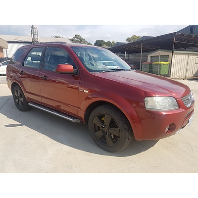 12/2004 Ford Territory GHIA (AWD) SX 4d Wagon Red 4.0L