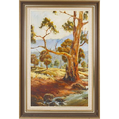 Kevin Boucher (Working 1970's-80's) Australian Landscape 1982, Oil on Board