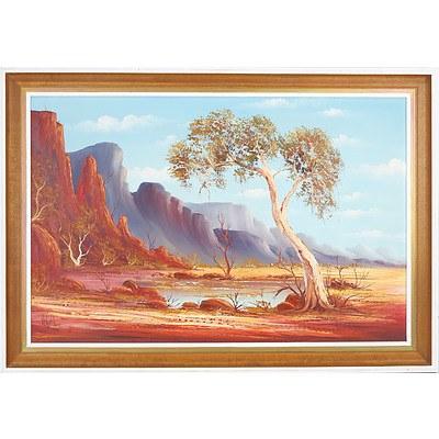 Henk Guth (1921-2003) Australian Landscape,  Oil on Board