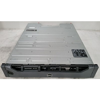 Dell PowerVault MD1200 12 Bay SAS Hard Drive Array w/ 4.8TB of Total Storage