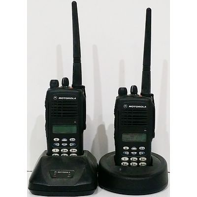 Motorola HT1250 Portable Two-Way Radios - Lot of 2