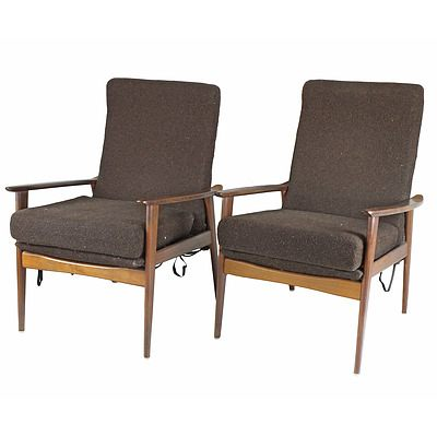 Pair of Retro Armchairs in Tasmanian Blackwood