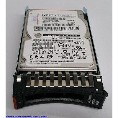 "IBM (42D0637) 300GB 10Krpm 2.5"" SAS Hard Drives - Lot of Three *Brand New - RRP: Over $450"