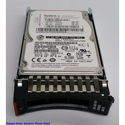 """IBM (42D0637) 300GB 10Krpm 2.5"""" SAS Hard Drives - Lot of Four *Brand New - RRP: Over $600"""